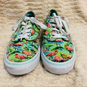 Limited Edition Flamingo Print Vans Ultra Cush 🦩